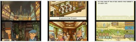 screenshots: professor layton 2