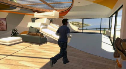 screenshots: playstation home