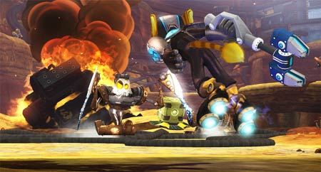 screenshots: ratchet & clank future