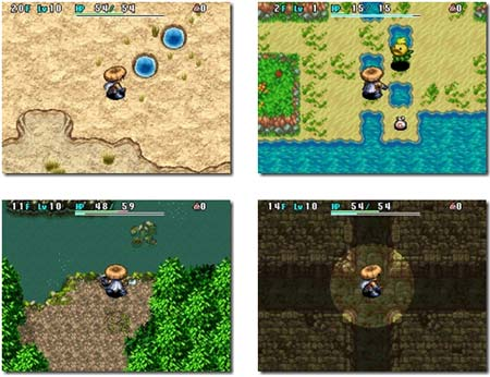 screenshots: shiren the wanderer 4