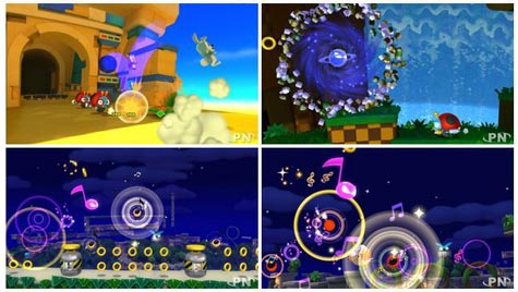 screenshots: sonic lost world