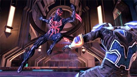 screenshots: spiderman: shattered dimensions