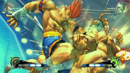 screenshots: super street fighter IV