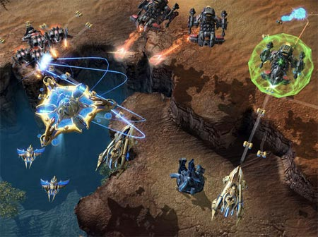 screenshots: starcraft II