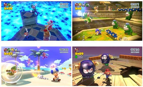 screens: super mario 3d world