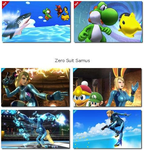 screenshots: super smash bros.
