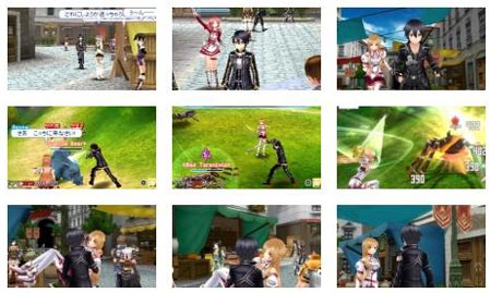 screens: sword art online: hollow fragment