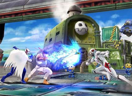 screenshots: tatsunoko vs. capcom