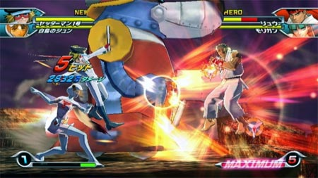 screenshots (II): tatsunoko vs. capcom