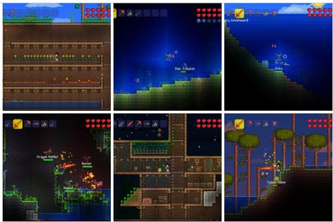 screenshots: terraria