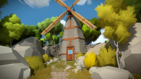 screenshots: the witness