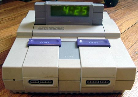 modding: snes-clock