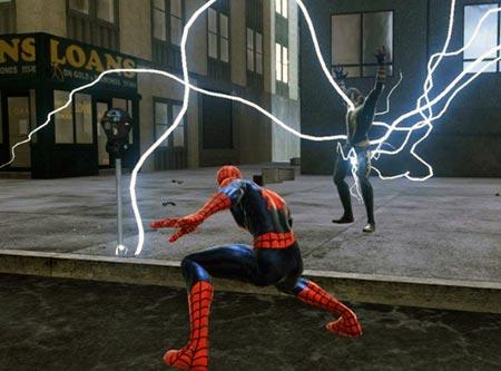 screenshots: spiderman – web of shadows