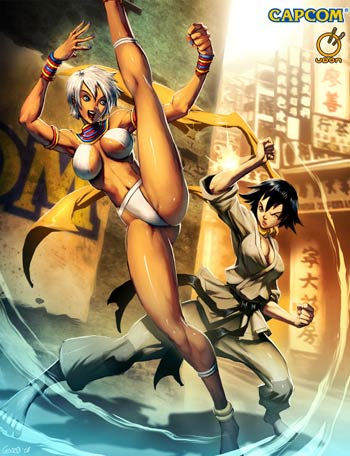 buch: street fighter vs. comics