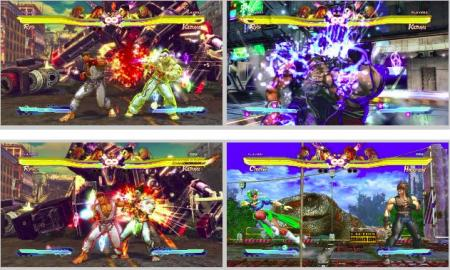 screens: street fighter vs. tekken