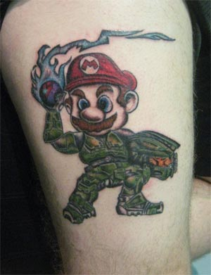 tattoo: master-chief-mario