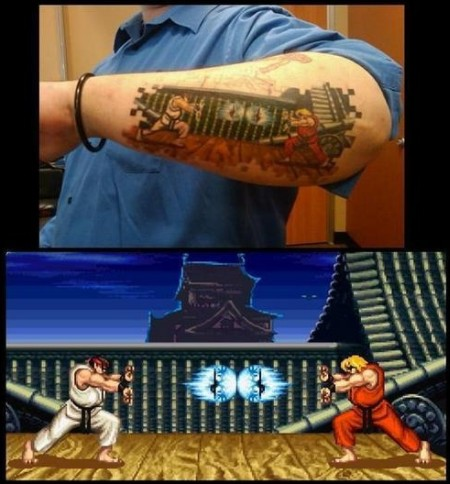 tattoo: street-fighter-arm