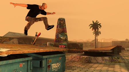 screenshots: tony hawk's pro skater HD