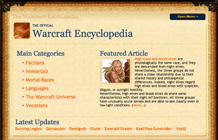 wow encyclopedia